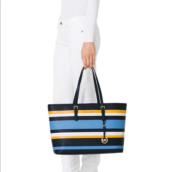 bd5f57d7e113 Michael Kors Bags | Michael Jet Set Travel Stripe | Poshmark